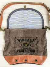 Load image into Gallery viewer, Vintage Canvas Leather Trim Bag
