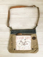 Load image into Gallery viewer, Make Life a Great Journey Canvas Crossbody Bag