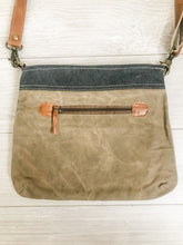Load image into Gallery viewer, Make Life a Great Journey Canvas Crossbody Bag Back