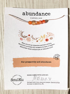 Abundance SoulKu Intention Necklace