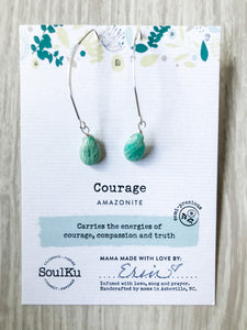 Courage SoulKu Soul Shine Long Earrings
