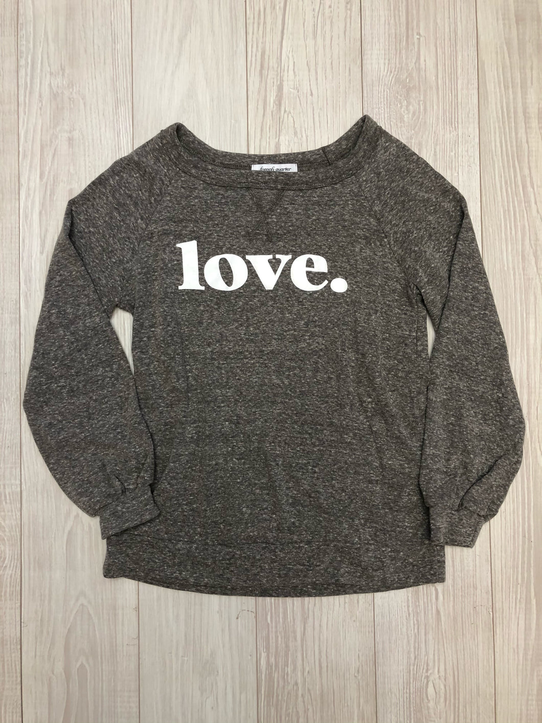 Charcoal Love Sweatshirt