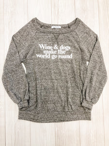 Dark Grey Wine and Dogs Sweatshirt