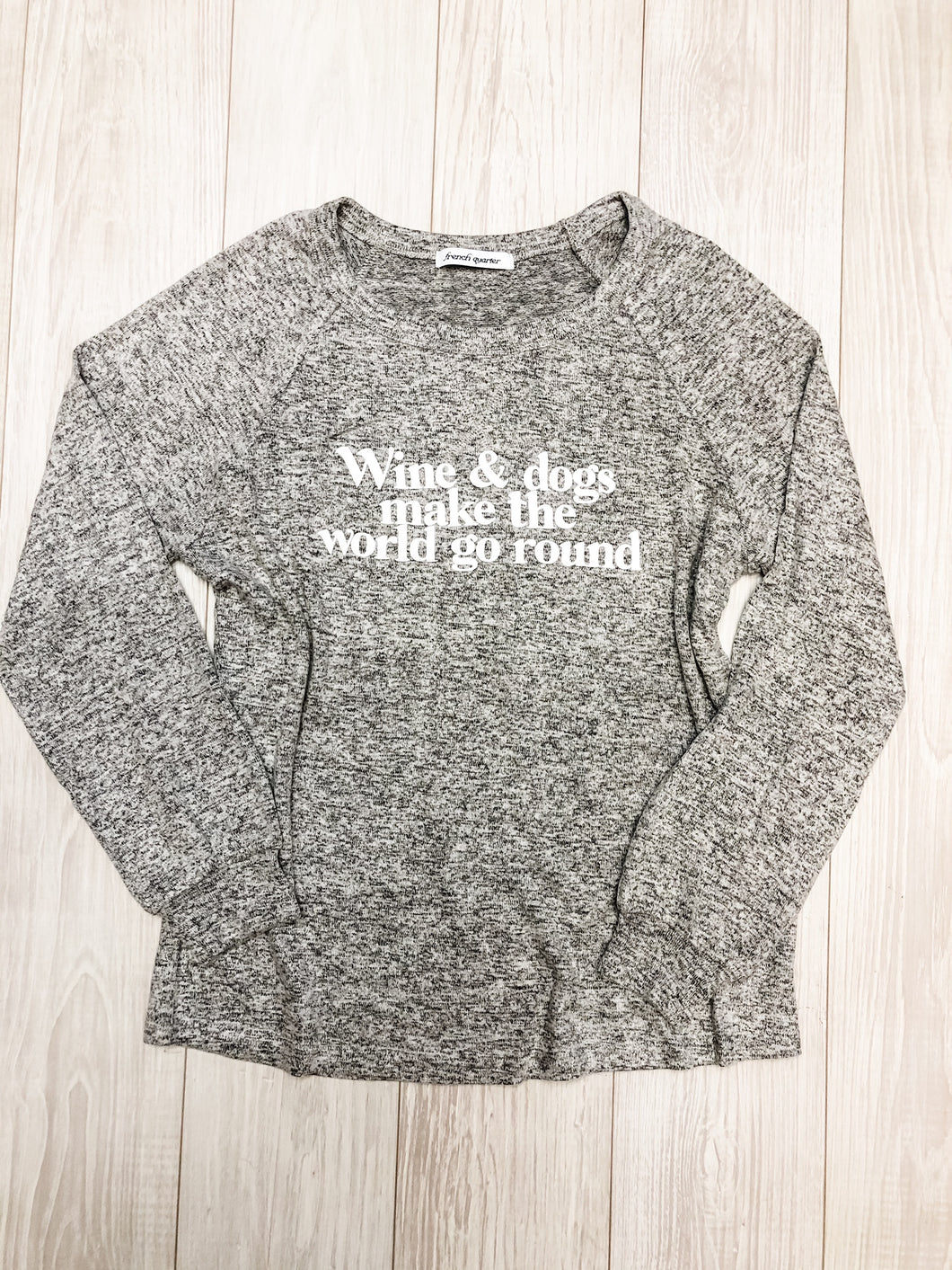 Light Grey Wine and Dogs Sweatshirt