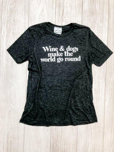 Charcoal Wine and Dogs T-Shirt
