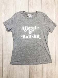 Heather Grey Allergic to BS T-Shirt