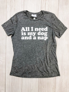 Grey Dog and a Nap T-Shirt