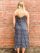 Load image into Gallery viewer, Navy Scatter Print Cami Maxi Dress Back