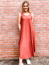 Load image into Gallery viewer, Jersey Maxi Dress W Cross Back-Multiple Colors
