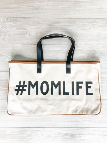 Mom Life Canvas Tote