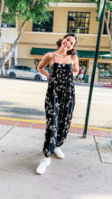 Load image into Gallery viewer, Black Washed Floral Jumpsuit