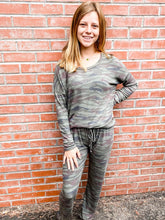 Load image into Gallery viewer, Olive Camo Stripe Loungewear Set