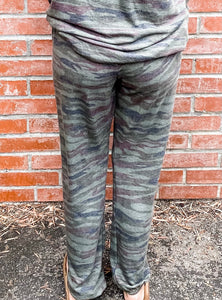 Olive Camo Stripe Sweatpant Back