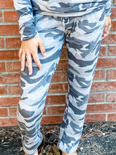 Load image into Gallery viewer, Grey Camo Hacci Sweatpant Front