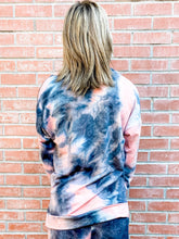 Load image into Gallery viewer, Charcoal/Coral Pullover Sweatshirt Back