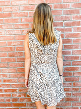 Load image into Gallery viewer, Leopard Print Ruffle Dress Back