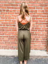 Load image into Gallery viewer, Olive Cami Jumpsuit