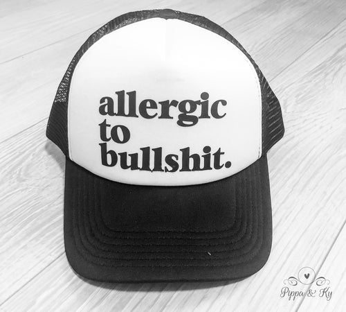 Allergic to BS Trucker Hat Front