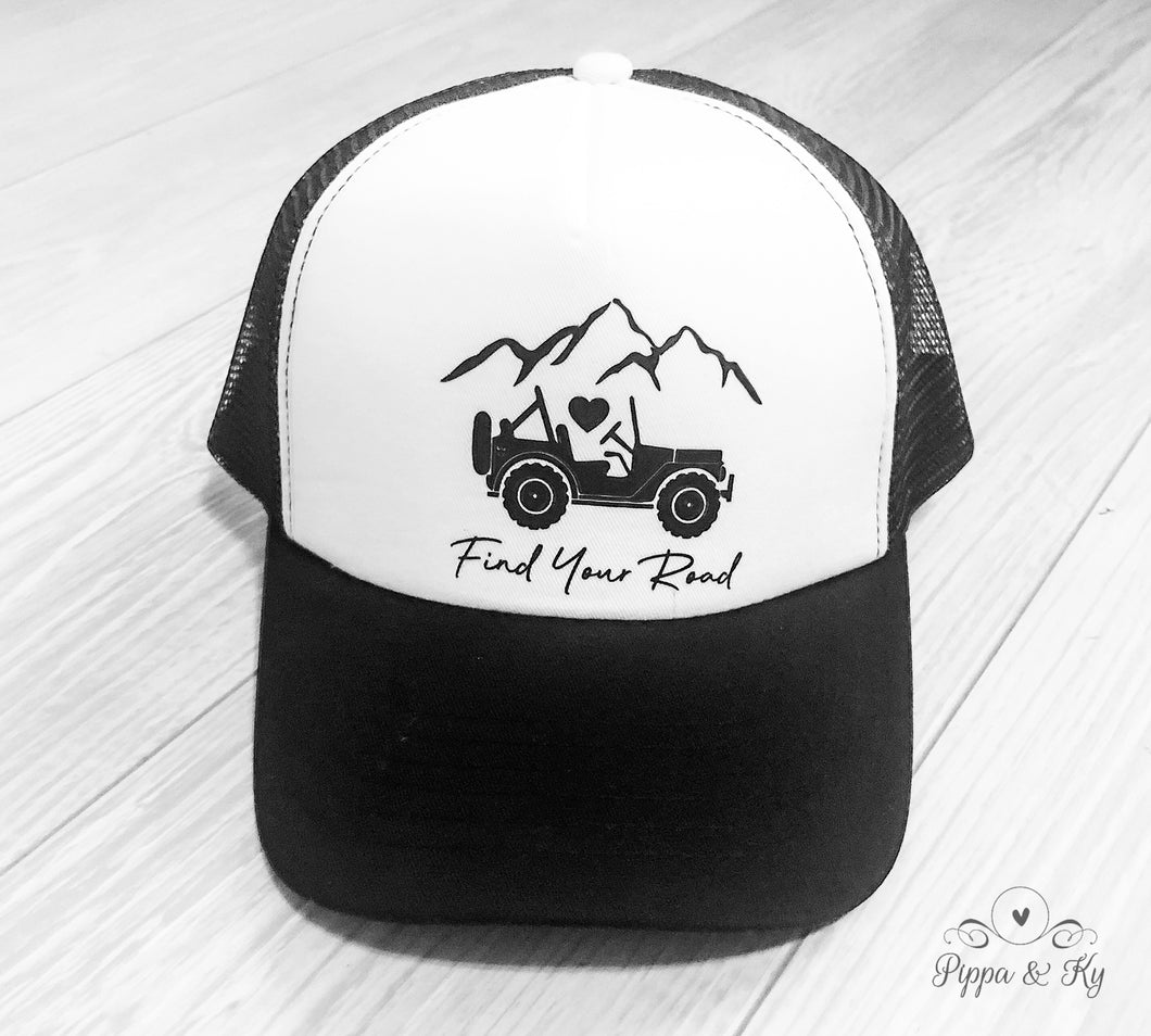 Find Your Road Trucker Hat Front