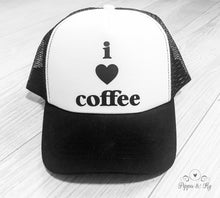 Load image into Gallery viewer, I Love Coffee Trucker Hat Front