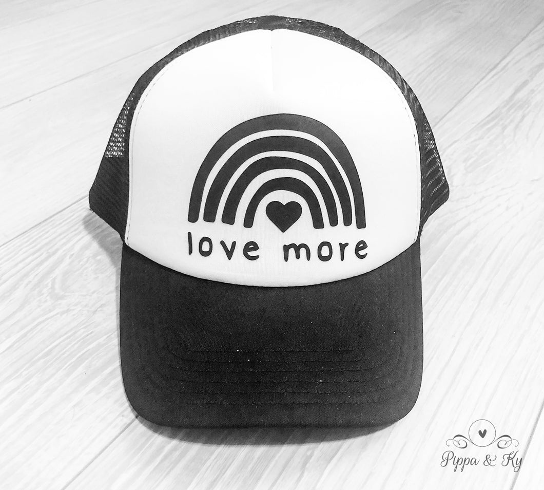 Love More Trucker Hat Front