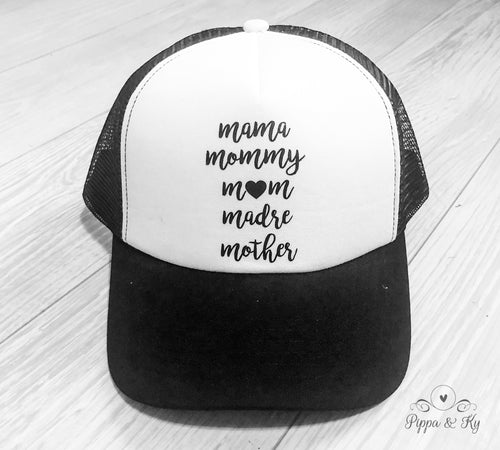 Mommy Madre Trucker Hat Front