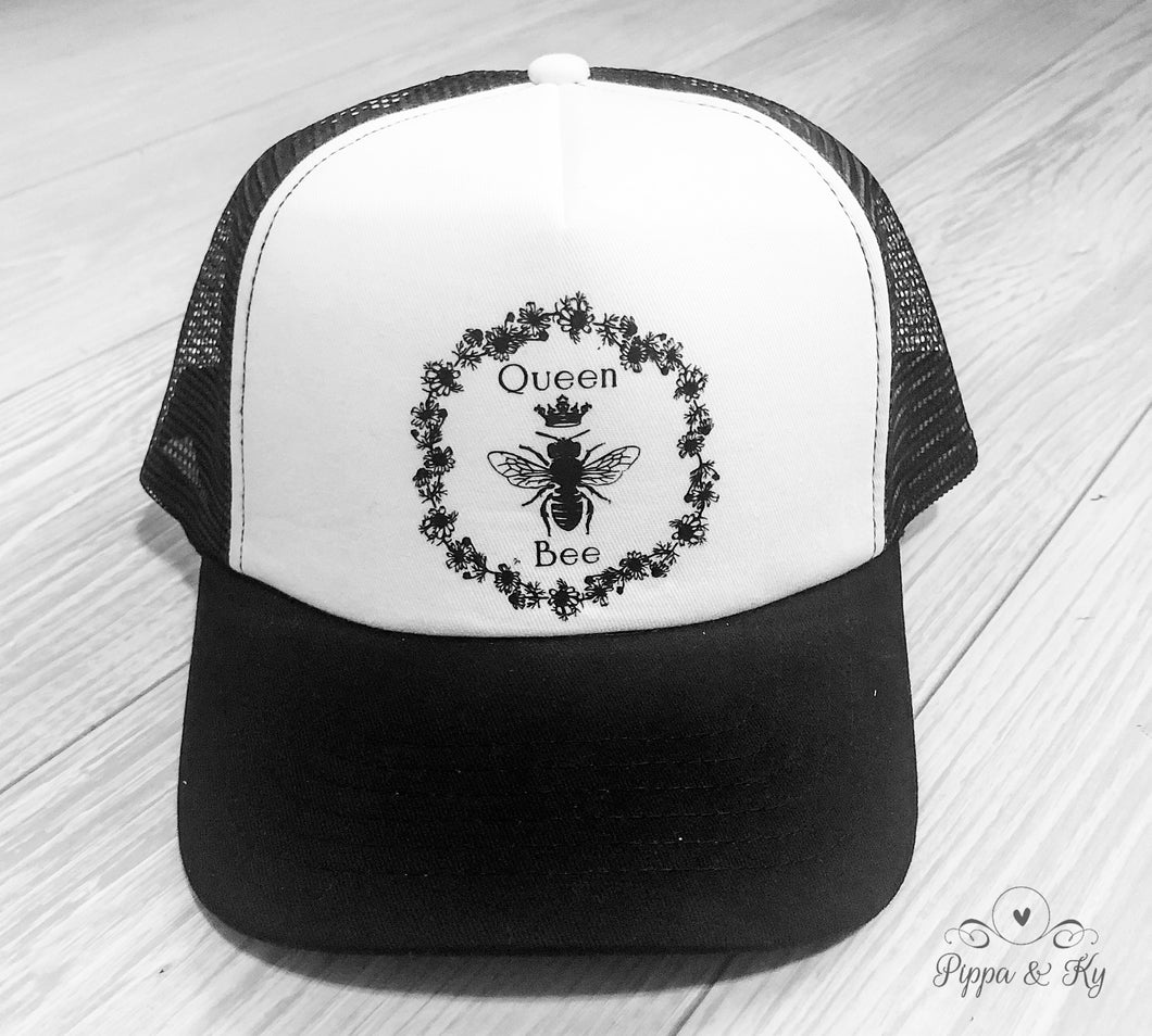 Queen Bee Trucker Hat Front