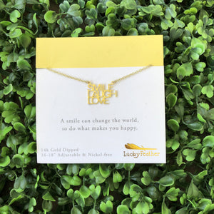 Smile Laugh Love Necklace - French Quarter Boutique
