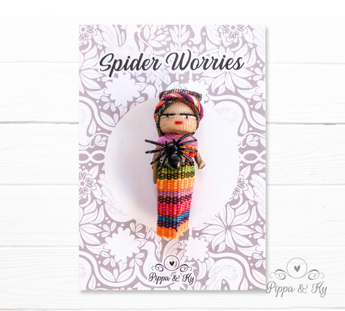 handmade guatemalan worry doll in a traditional mayan costume
