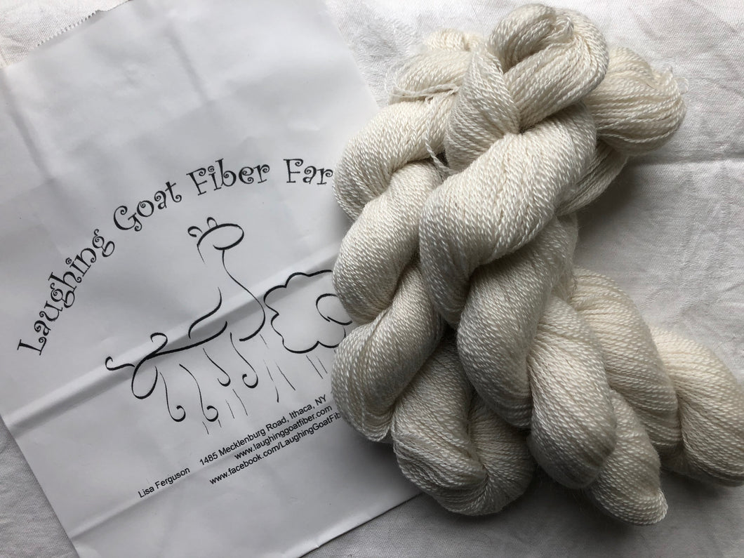 Yarn!  100% Cashmere Yarn from our farm!