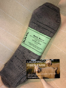 Sock-Crew -Extra Lg. (M 12-14) Mostly Mohair