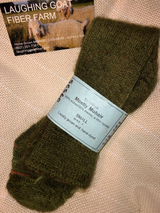 Sock-Crew -Small (W 4-6.5)  Mostly Mohair
