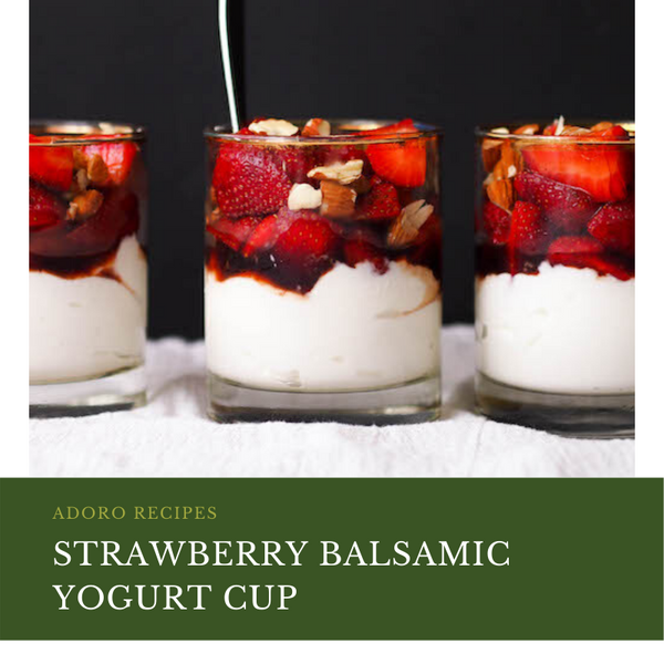Strawberry Balsamic Yogurt Cup
