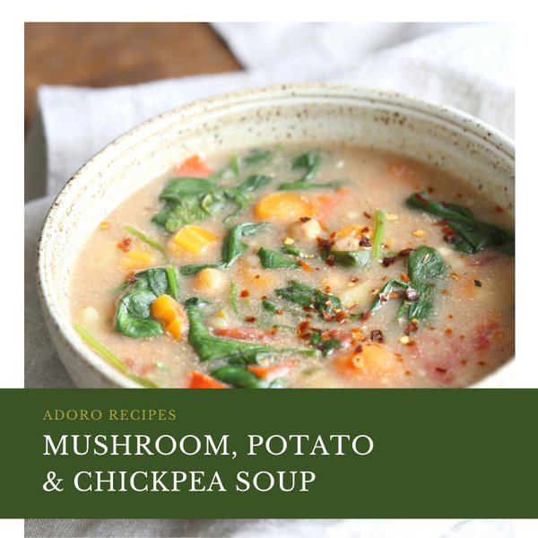 Mushroom, Potato and Chickpea Soup