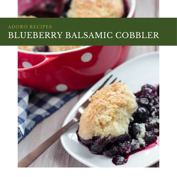 Blueberry Balsamic Cobbler