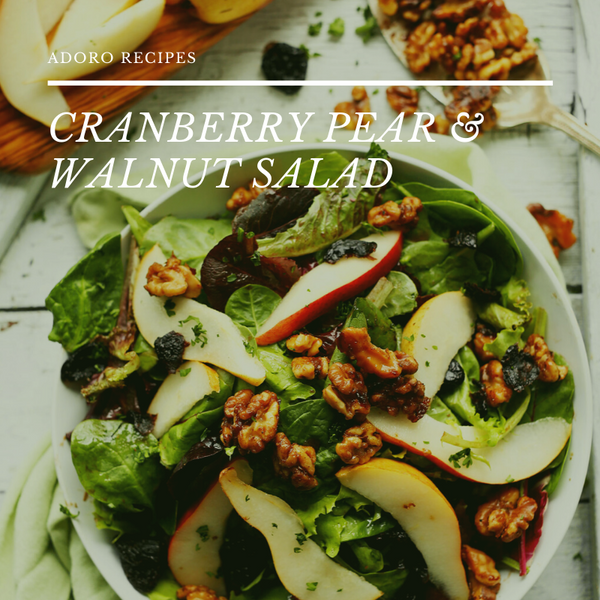 Cranberry Pear and Walnut Salad