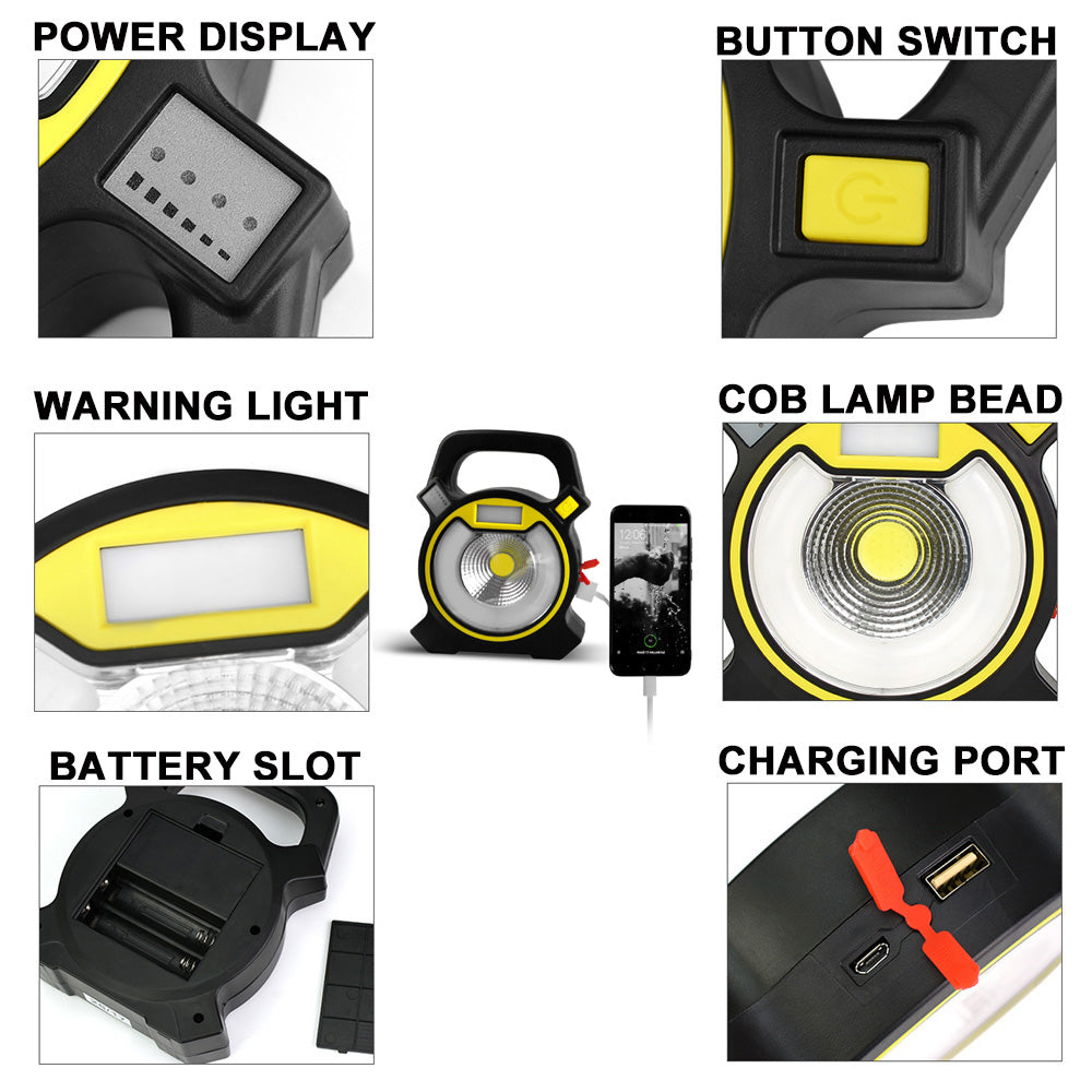 Super Bright Rechargeable Work Camping Lights Lamp