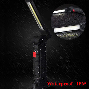 Rechargeable COB LED Work Light with Magnetic Base
