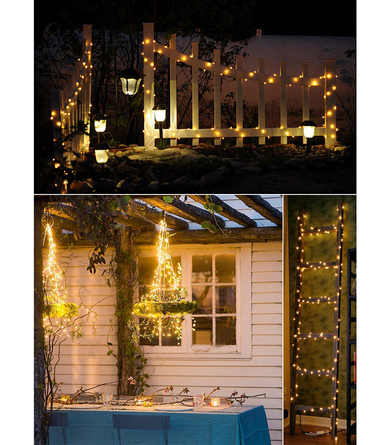 Solar LED Copper Wire String Lamp Light