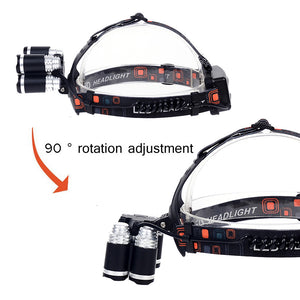 LED Headlamp 50000LM CREE XM-L 5 T6