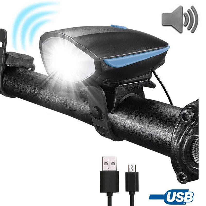 USB Rechargeable Bicycle Light & Horn