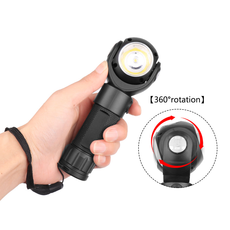 LED Work Flashlight Magnetic Light 9000 Lumen XM-L T6 With Battery