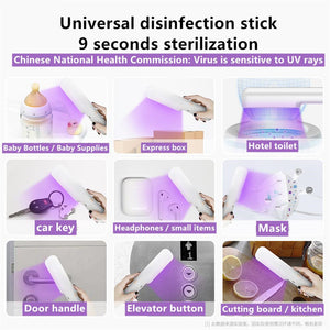 UVC Flashlight Black Light UV Lamp Germicidal Lamp Portable UVC Handheld Folding UV Anti-Virus Flashlight for Home Travel Outdoors