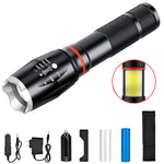 LED Flashlight COB Lantern Magnetic Torch