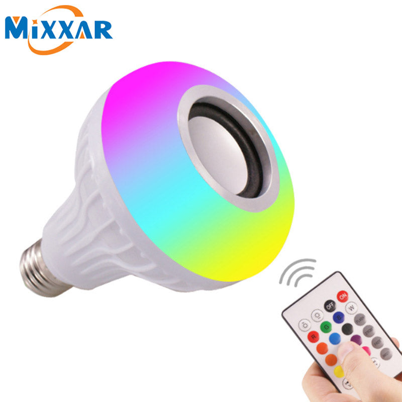 Smart E26 RGB Bluetooth Speaker LED Bulb Light