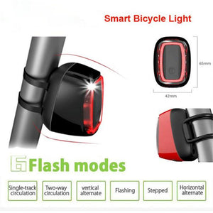 Waterproof USB Rechargeable Intelligent Bicycle Light 7 Modes