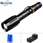 LED Tactical Flashlight 8000 Lumen Zoomable Shock Resistant Survival Light Great for Camping