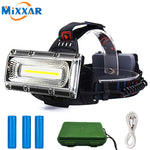 LED Rechargeable Headlamp COB 3 Lighting Modes Waterproof Worklight