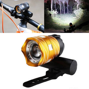 T6 LED Zoomable Bicycle Light USB Rechargeable Built-in Battery 16000LM