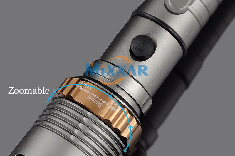 Mixxar T6 Self Defense 6000LM LED flashlight Rechargeable powerful